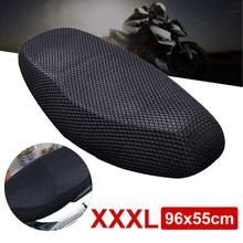 3D Motorcycle Electric Bike Net Seat Cover Cooling Protector Durable Black(China)