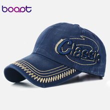 [boapt] unisex 2017 new casual cotton letter embroidery brand baseball cap men and women snapback female summer sun hip hop hats(China)