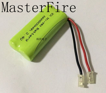 MasterFire 2PCS/LOT Brand New Ni-MH AAA 2.4V 800mAh Ni MH Battery Rechargeable Cordless Phone Batteries Pack With Plugs