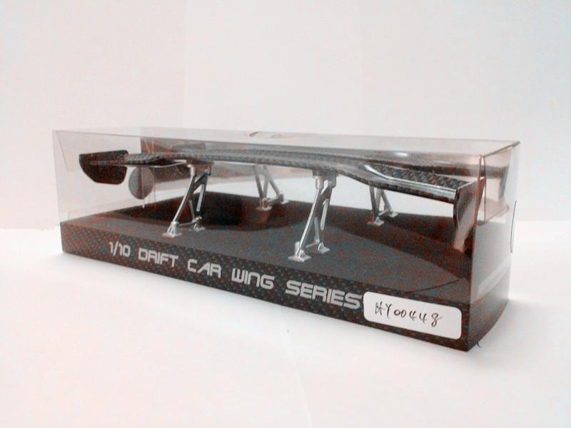 Stainless Steal EasyMade 1//10 Scale RC Drift DuckTail Wings//Spoilers