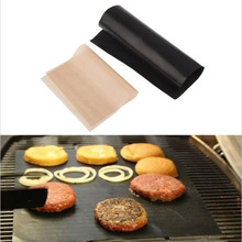 Nonstick Teflon BBQ Grill Mat 2pcs/lot Baking Cooking Accessories Hot Plate Pads for Food Roast Meat Vegetable Repeated Use
