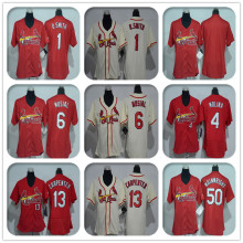 Womens #1 Ozzie Smith #4 Yadier Molina #13 Matt Carpenter # 50 Adam Wainwright Jersey Color Beige Red Throwback Jerseys