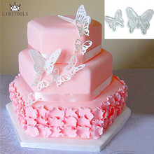LIMITOOLS 2pcs/Set Butterfly Cake Fondant Sugarcraft Cookie Decorating Cutters Mold Tool