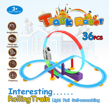 2017 New Toy Vehicles Electric Track Rail Car 36PCS Twister Tracks  Racing Car Rail Car DIY Toys Set for Children Gift