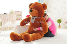 free shipping 5.25 FOOT TEDDY BEAR STUFFED LIGHT BROWN GIANT JUMBO size:160cm