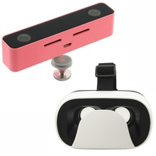 SVPRO vr box set with mobile phone pink VR 3D Video cameras for 3D video recording with double HD VR image(China)
