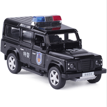 1:32 Alloy Diecast Car Model 1/32 Jeep Wrangler police car Special police Car Models W sound & light Xmas Kids Gift Collection