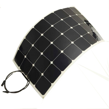 Solarparts 4pcs 100w mono semi-flexible solar panel,  module for boat RV,outdoor aa aaa usb car rechargeable charger