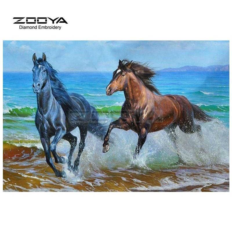 Вышивка лошади из моря 82