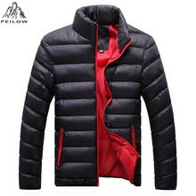 PEILOW New autumn winter Ultra Light cotton Jacket Men fashion casual Jackets And Coats Parka men outwear clothing size M~5XL