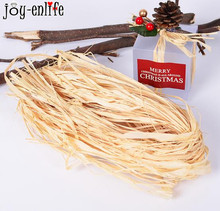 JOY-ENLIDE 10pcs Natural Raffia Rope DIY crafts Wedding Invitation Gift Packing Flower Wrapping bottle decor Party decoration