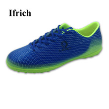 Football Shoes Original Men Kids Indoor Soccer Sneakers Blue Green Traning Football Cleats Boys Turf Shoes Cheap Training Soccer