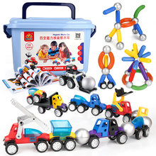 Magnetic Designer Pipe Building Blocks DIY Construction Cars Model Set Boy Kids Funny Magnets Bricks Games Children Toys Gifts(China)