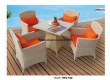 Elegant Beige Rattan Garden Set Modern Design Holiday Leisure Beach Swing Pool Outdoor Furniture Rattan Amreast Chair Table Set