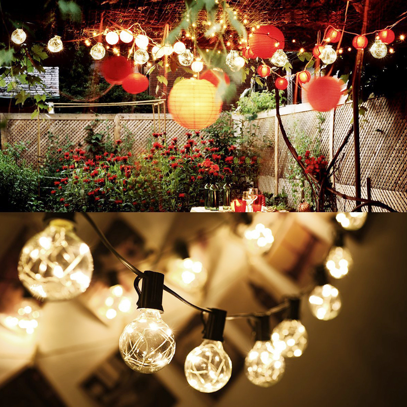 Vintage LED Bulbs Globe String Lights Outdoor/Indoor G40 25Ft Led Light String For Christmas Party Wedding Decoration Bulb Light<br>