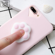 Lovely 3D silicon Cartoon Cute Cat Candy Color for iPhone 5 5s SE Cases phone Cases For iPhone 6 6s plus 7 7 Plus Soft TPU phone