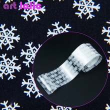 Winter Snowflake Foil Nail Art Transfer Sticker Decals DIY Manicure 100*4cm Transparent Color Xmas Christmas Gifts(China)