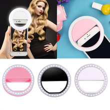 rechargeable usb Selfie Portable Led Camera Phone Ring Light Photography for iPhoneSE 5S 6 6S 7 7Plus Samsung huawei for xiaomi