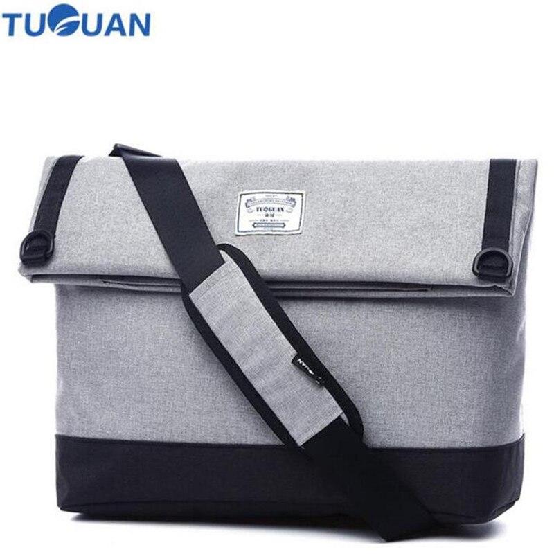 TUGUAN Business Mens Handbag Multi-function Messenger Bag Casual 14 inch Laptop Wear-resisting Canvas Single Shoulder Bag T005<br>
