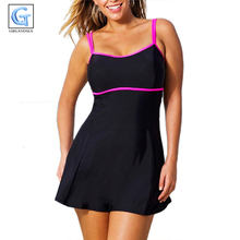 Summer Hot sale push up new Large size swimwear one piece swimwear plus size bathing suits skirt swiming suits