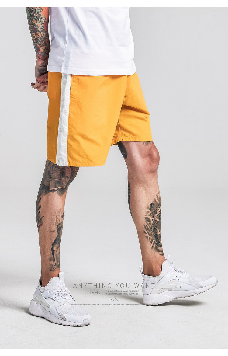 Aolamegs Shorts Men Harajuku Side Striped Bermuda Beach Knee-length Shorts Elastic Mens Sweatpants Casual Fashion Streetwear (17)