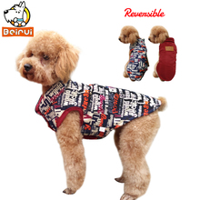 Buy Winter Reversible Dog Vest Jacket Warm Puppy Clothes Street Style Pet Clothing Dogs Coat Small Medium Dogs Teddy for $9.59 in AliExpress store