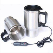 Car Cup Bottle 12V 450ml Tea Coffee Water Heater Heating Tool Cup Electric Kettle Thermal Car cigarette lighter Heater driving(China)