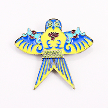 fashion costume jewelry accessories metal enamel epoxy owl kite brooch