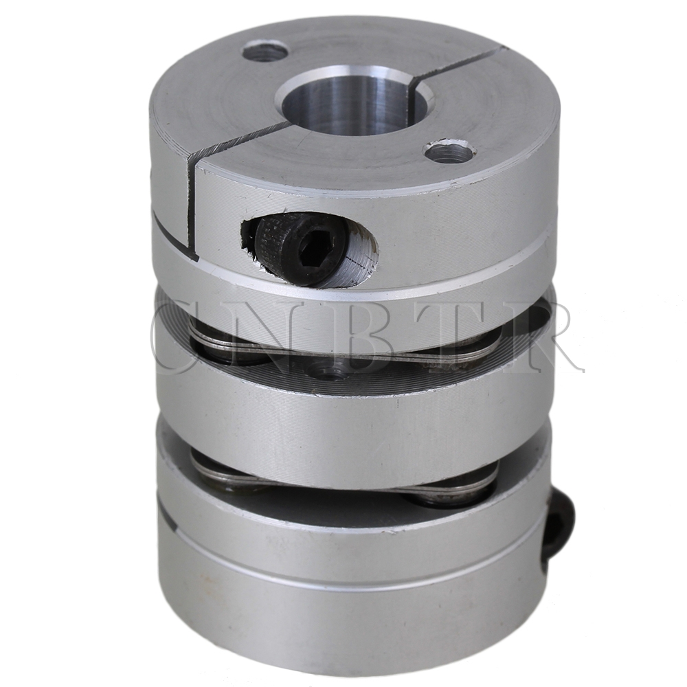 CNBTR D34mm L45mm Shaft Double Diaphragm Coupling Coupler 8mm to 10mm Bore Silver<br><br>Aliexpress