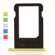 Nano Sim Card Adapter Holder Tray Slot For iPhone 5C iPhone5C Repair Parts Replacement Accessories white pink yellow blue green