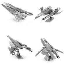 SAINTGI MASS EFFECT star wars Etching Trek Space ship 3D metal model Enterprise action figure DIY collection ME1(China)