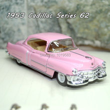 Brand New 1/43 Scale Classic Car Toys 1953 Cadillac Serise 62 Diecast Metal Pull Back Car Model Toy For Kids/Gift -Free Shipping