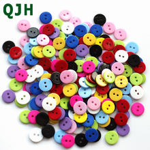 Wholesale bulk 200pcs mixed buttons children's clothing button diy resin 15mm scrapbook Knopf Bouton Hand Knitting Tool(China)