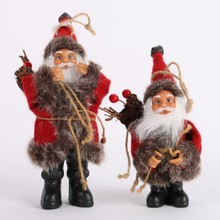 Christmas Santa Claus Doll Toy Christmas Tree Ornaments Decoration Exquisite For Home Xmas Happy New Year Gift AA