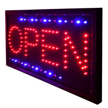 Universal 48*25cm LED Open Sign Light Coffee Resturant Shop Hotel Store Window Display Illuminated Flashing LED Sign