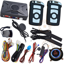 remote start pke car alarm system with rfid emergency unlock ignition start stop engine support diesel or petrol car