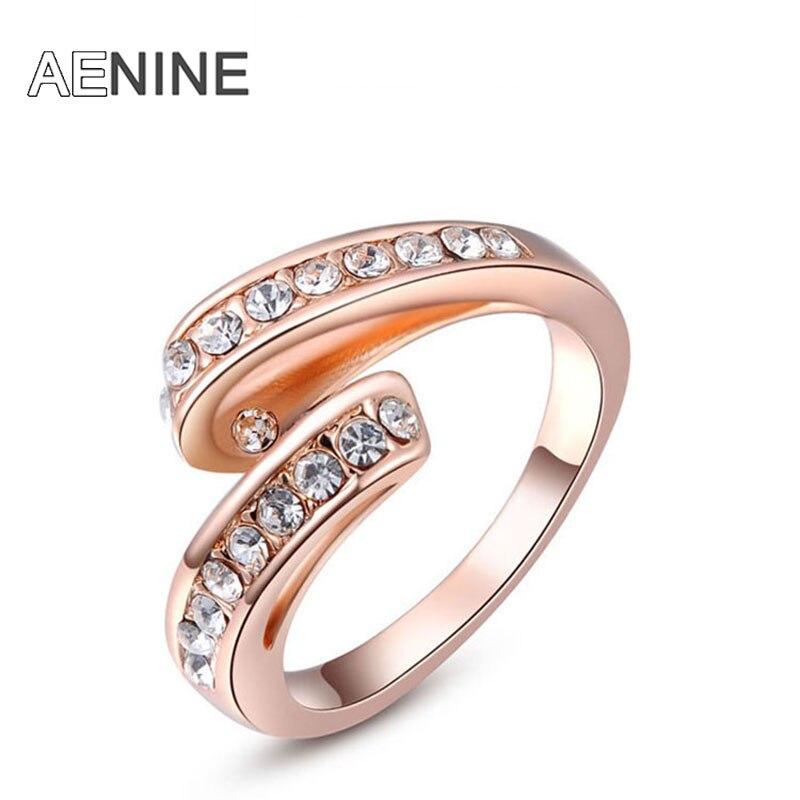 AENINE Кольца Изысканная позолота Развевающимися лентами анель anillos для женщин свадьба хвост ногтей кольца L2010280190(China)