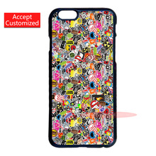 Sticker Bomb Print Case Cover for LG G2 G3 G4 iPhone 4 4S 5 5S 5C 6 6S 7 Plus iPod Touch 4 5 6