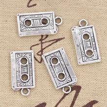 10pcs Charms retro 80's cassette tape 23*12mm Antique pendant fit,Vintage Tibetan Silver,DIY for bracelet necklace