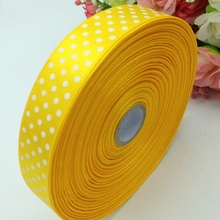 HL 1 roll (50yards) 18mm width printed dots satin ribbon wedding party decoration crafts making ribbon bows DIY accessories A930