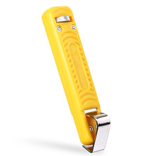 Mini Cable Knife Stripping Tool For 8-28mm Round PVC Rubber Wire Cable Electrician Stripper High Quality Steel+Yellow Plastic(China)
