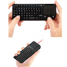 2017 Black 3 in 1 Rii mini X1 Handheld 2.4G RF Wireless Keyboard Qwerty With Touchpad Mouse For PC Notebook Smart Google TV Box