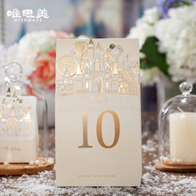 Buy 10pcs/lot 3D Castle Pop-up Table Number Card Champagne/Red Wedding Bridal Favor Place Card Numbers Stickers Wishmade TC5093 for $13.78 in AliExpress store