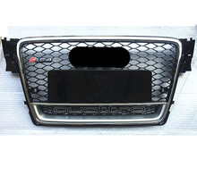RS4-Styling A4 B8 Grill ABS Black Painted Front Honey Mesh Grille for Audi A4 S4 RS4 B8 Sedan / Coupe / Convertible 2009-2012(China)