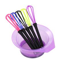2 in 1 Hair Dyestuff Whisk Hair Coloring Bowl Dye Cream Paint Stirrer Hair Dyeing Kit for Barber DIY Hairdress Styling Tool(China)