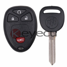 3PCS/LOT Keyless Entry Remote Control Transmitter 15913421 & ID46 Transponder Key for GM OUC60270, OUC60220