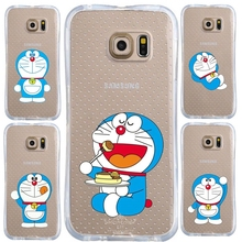 0467 Cartoon Doraemon cell phone bags case cover for iphone 4S 5S 5C SE 6S 7 PLUS Samsung S6 S7 NOTE IPOD  4 5