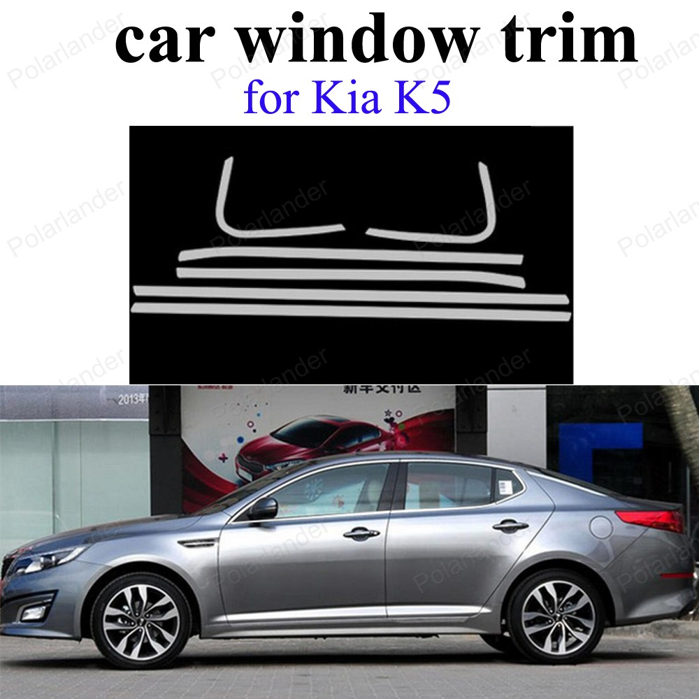 Stainless Steel Exterior Accessories For K-ia K5 Car Sill frame Window Trim  car styling  <br><br>Aliexpress