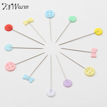 Modern 100Pcs/Box Mixed Colors Sewing Patchwork Pins Flower Head Pins Dressmaking Sewing Tool Needle Arts DIY Crafts Accessories