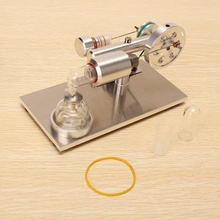 Hot New Upgrade Air Stirling Engine Model Generator Model Educational Science Toy Gift For Kid Children(China)